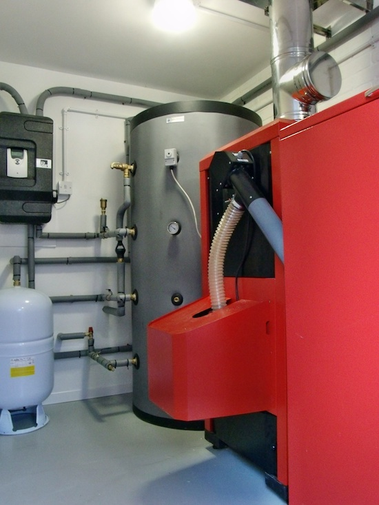 Wood Pellet Boiler Installation